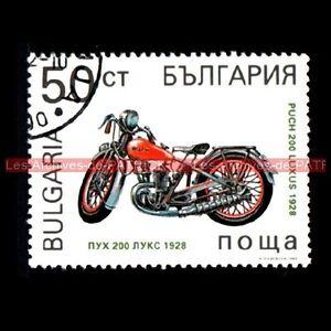 PUCH 200 Luxus 1928 - BULGARIA BULGARIE Moto Timbre Poste - France - TIMBRE POSTE MOTO PUCH 200 LUXUS 1928 Pays : BULGARIE Oblitéré , trs bon état Dimensions : 32x43 mm !!! Document Original ; NO COPY !!! - France