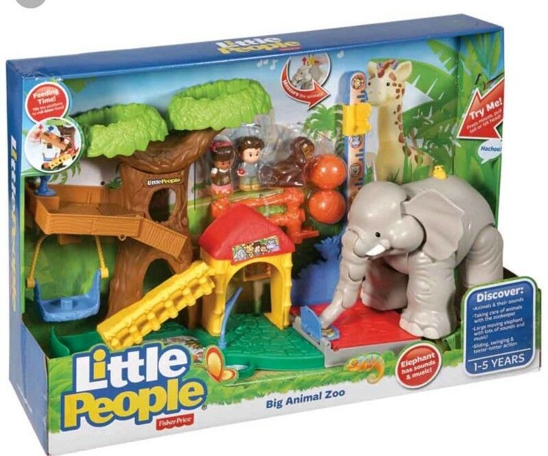 NEW    Fisher-Price Little People Big Animal Zoo - Elephant Has Sounds & Music  5c6d11
