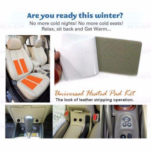 Universal Heated Pad 2Seat 12V LED Switch Hot Heater Diy Kit for INFINITI Car