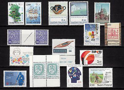 102806/ Finnland - Schönes Lot Frei- U. Sondermarken - ** - M€ 10,00+ Goed Voor Antipyretische En Keel Fopspeen
