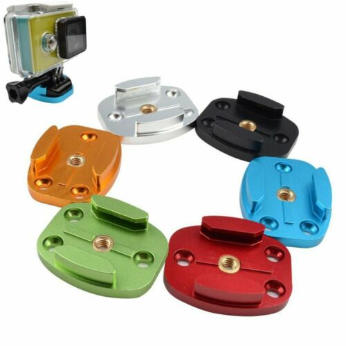 Flat Quick Release CNC Aluminum Buckle Mount Base 4 Holes for GoPro HD Hero 4 3+