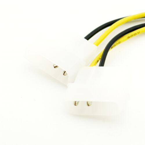 1pc ATX P4 12V CPU PSU To Dual 4 Pin Molex Power Internal PC Power Adaptor Cable