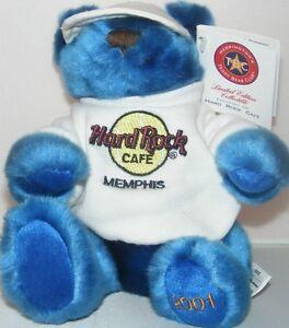 Hard-Rock-Cafe-MEMPHIS-2001-034-Smashin-039-the-Blues-034-Teddy-Bear-PLUSH-70-200-Tennis