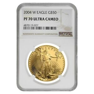 2004-W-1-oz-50-Proof-Gold-American-Eagle-NGC-PF-70-UCAM