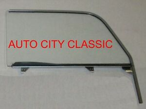 1955-1956-1957-Chevy-Nomad-Pontiac-Safari-Door-Glass-Left-Driver-in-Clear-Assemb