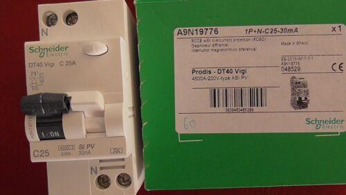 DT40  VIGI 1P+N C 25A 30mA-Si  SCHNEIDER  A9N19776  DISJONCTEUR DIFFERENTIEL