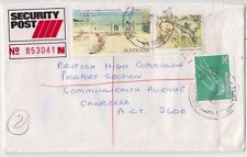 Stamps Australia $5 Holiday at Mentone uprated sent security post to Canberra