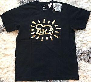 fe5f924a KEITH HARING x UNIQLO 'Radiant Baby' SPRZ MoMA NY Art T-Shirt M Gold ...
