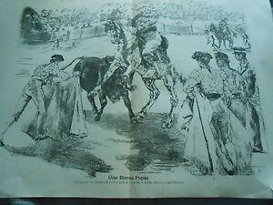 Una-Buena-Candelabros-Toro-Corrida-Cuadro-Arte-1897