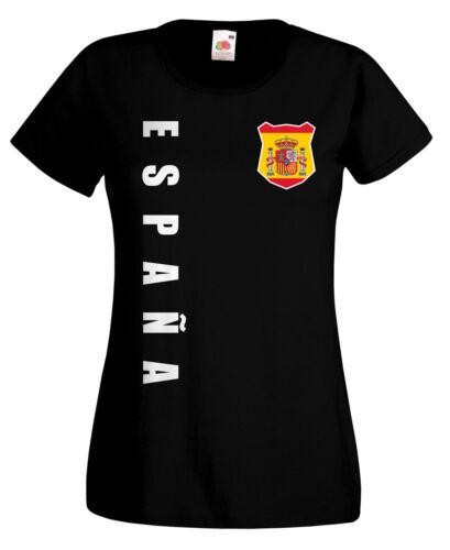 Spanien Espana WM 2018 Damen T-Shirt Trikot Name Nummer Fussball Team National