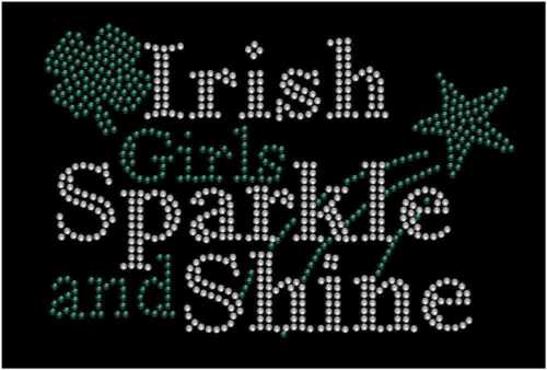 Patrick/'s Day Irish Girls Sparkle and Shine Rhinestone Fitted Tank Tops St