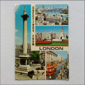 London-Greetings-4-Views-1976-Postcard-P361