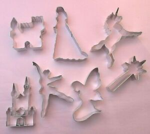 Princess-unicorn-wand-castle-gown-crown-fairy-metal-cookie-biscuit-cutter