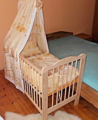 Beistellbett Komplett Set Gitterbett Babybett  Schublade Massivholz ANGEBOT NEU