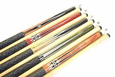 """SET OF 5 POOL CUES New 58"""" Canadian Maple Billiard Pool Cue Stick #6 PLUS SHIP"""