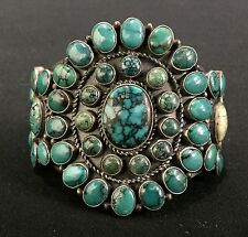Kirk Smith (Navajo) * High-Grade Turquoise * Cluster Bracelet * Top of the line!