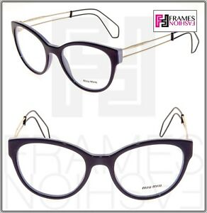a2652710eae MIU MIU COLLECTION MU03PV Lilac Violet Cat Eye Eyeglasses RX Frame ...