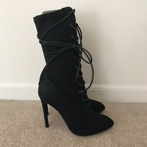 Yeezy lace up heeled boots