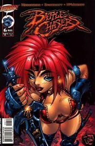 BATTLE CHASERS # 6 ADAM WARREN RED MONIKA Cvr Fi (Wildstorm, 1999) original ComB