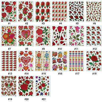 #87S Heart Love Teacher Reward Wedding Children Craft Scrapbooking Stickers