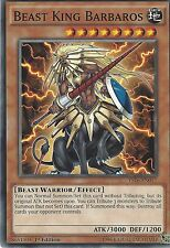 YU-GI-OH CARD: BEAST KING BARBAROS - YS16-EN017 1ST EDITION