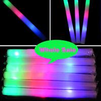 60/100 Pcs Light-up Foam Sticks Led Flashing Baton Rave Party Multi-color Wand