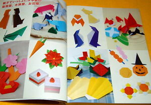Japanese-ORIGAMI-paper-folding-136-patterns-book-from-japan-rare-0075