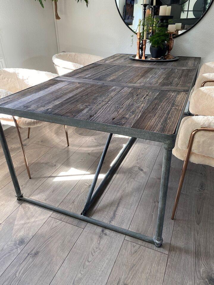 Spisebord, Træ/metal, b: 100 l: 200