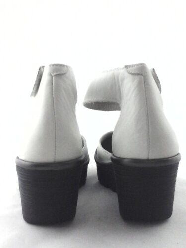 Fly London Shoes Yand White Pump Wedges Platform Sandals Us 7.5-8 Eu 38 $170