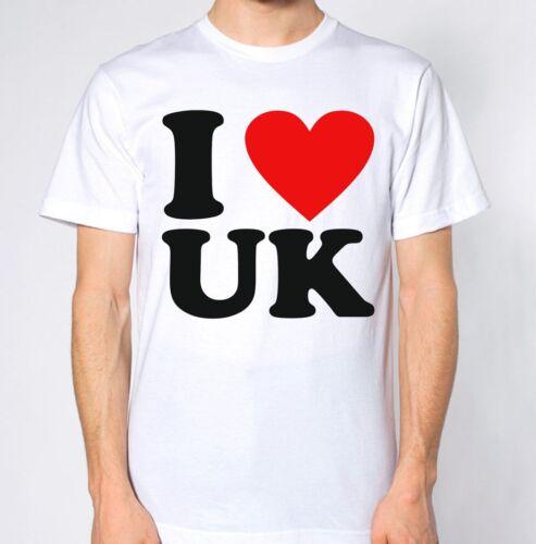I love uk t-shirt royaume-uni top london british la grande-bretagne tee angleterre