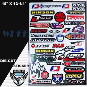 MOTOCROSS-MOTORCYCLE-DIRT-BIKE-ATV-HELMET-SPONSOR-LOGO-RACE-STICKER-DECAL-90GRB