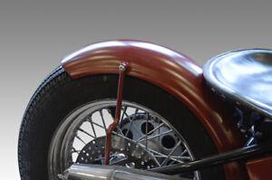 150mm Fender Stahl umgebördelte Kante Motorradfender Schutzblech Harley Bobber