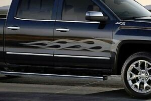 Flame-Stripe-Decals-GMC-Sierra-Chevy-Silverado-Ram-1500-Stripes-Graphics-Kit