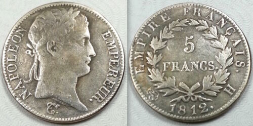 1812 French Italian Emperor Napoleon 5 Francs France Medal Coin Token Not Silver