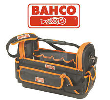 Bahco 4750fb1 19a 47cm Hard Base Open Tote Multi Pocket Storage Hand Tool Bag