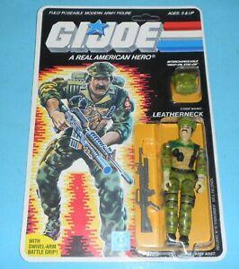 *RECARDED* 1986 GI Joe Leatherneck Figure Complete Sealed *CUSTOM File Card Back