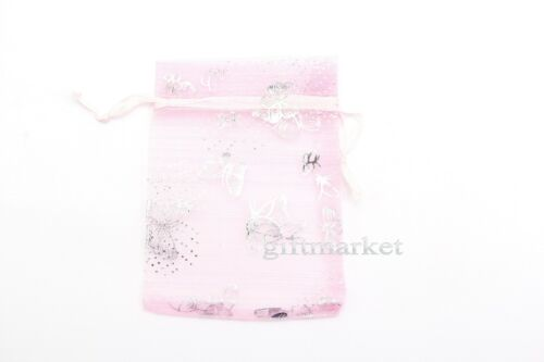 50//100pcs Organza Wedding Party Favor Butterfly Gift Candy Bag Jewellery pouches