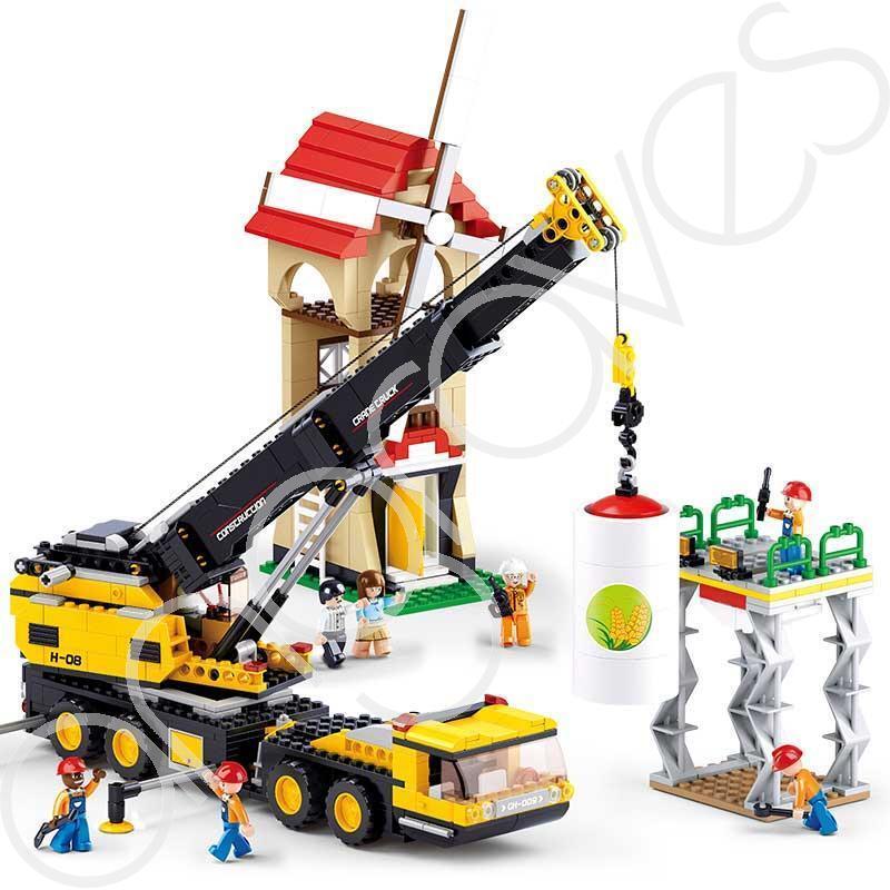 Contruction Crane Builder Digger Truck Building Building Building Bricks Set (767 Pieces) Build Pl 0fc522