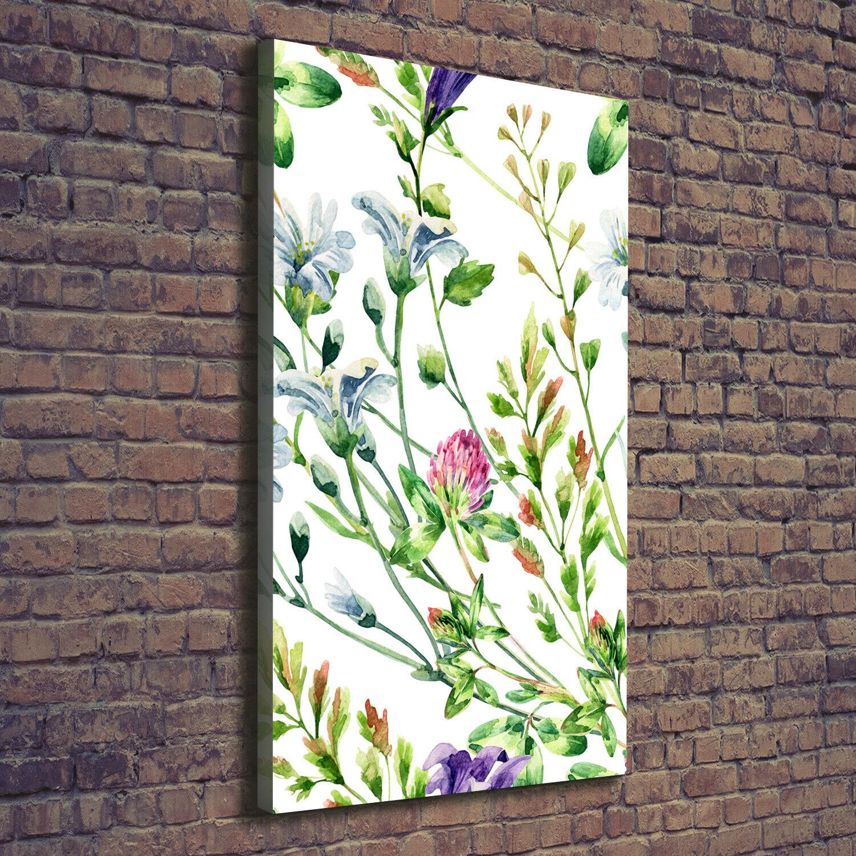 Leinwand-Bild Kunstdruck Hochformat 70x140 Bilder WildBlaumen