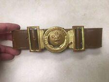 Foreign Boy Scout Leather Belt & Interlocking Buckle