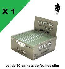OCB Slim X-PERT ''slim fit'' boite/box de 50 carnets de feuilles à rouler longue