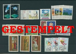 Liechtenstein-Vintage-Yearset-1991-Timbres-Used-Complet-Plus-Sh-Boutique