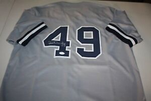 NEW YORK YANKEES  49 RON GUIDRY SIGNED AWAY JERSEY 1977 78 WS CHAMPS ... c3cd8069e01