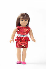 2017 unique Handmade  clothes dress for 18inch American girl doll party b128