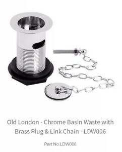 Brand New Ultra Sink Basin Waste With Brass Plug And Link Chain E353 Chrome Ebay