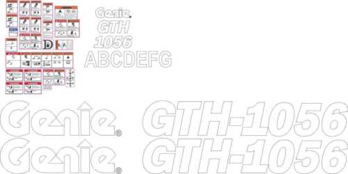 Genie GTH-1056 Forklift Decal Kit very high quality aftermarket decals
