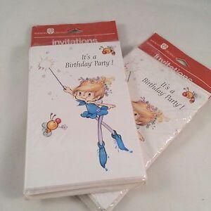 13 vtg american greetings fairy fairies birthday party invitations image is loading 13 vtg american greetings fairy fairies birthday party filmwisefo