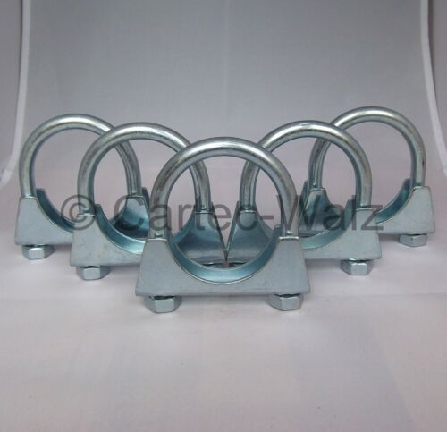 5 unidades de escape abrazadera de tubo-perchas abrazadera de tubo conector CLAMP m10 Ø 70mm