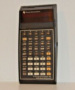Texas Instruments TI59 programable calculator w/ Master Chip-NO CORD NOT TESTED