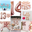 Rose-Gold-Giant-40-034-Number-Helium-Air-large-Foil-Balloon-Birthday-party-Wedding thumbnail 2